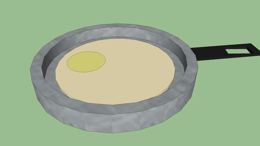 frying pan & egg