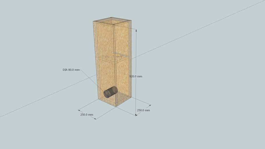 """Subwoofer box for 6.5"""" speaker"""