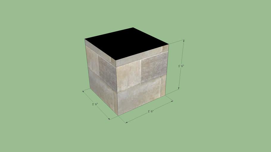 "1' 6"" Cube"