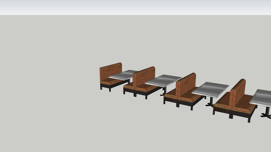 """66"""" Booths with SS #6""""W Tables"""