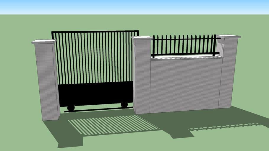 Pagar Tralis Dan Tembok | 3D Warehouse
