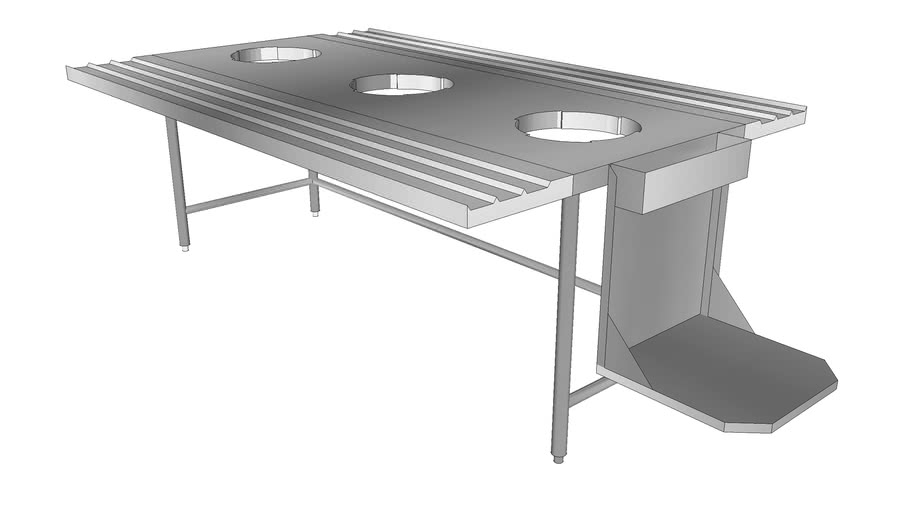 stainless Steel Recycling Table