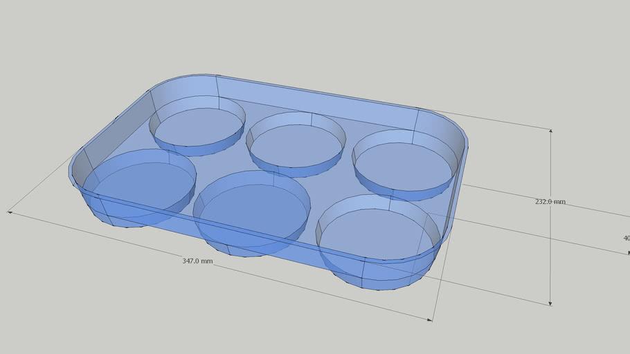 6 cake trays