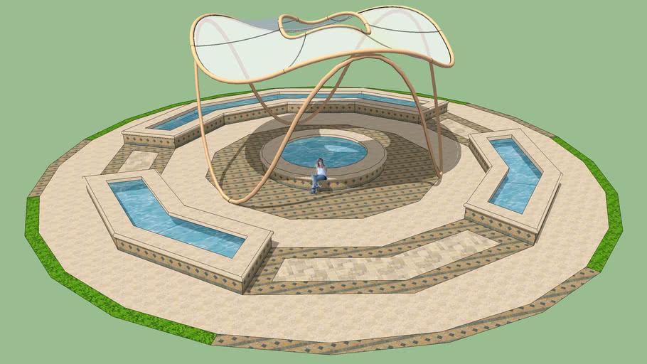 Park Fountain Wave Form Canopy