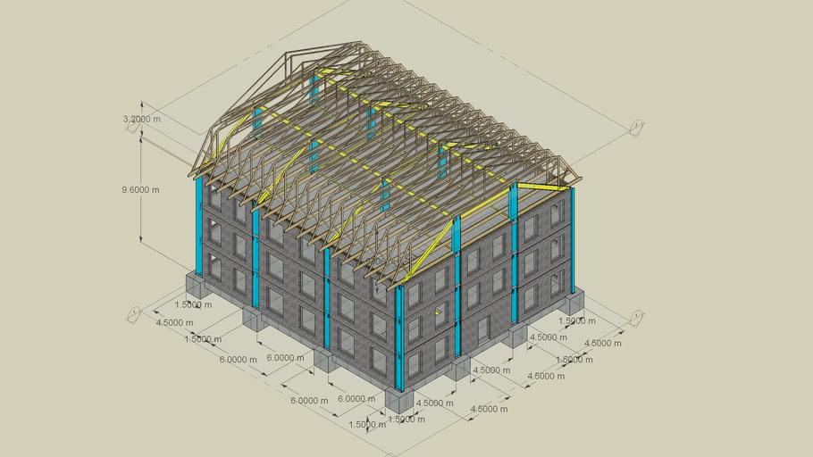 Animated 3 Storey Building