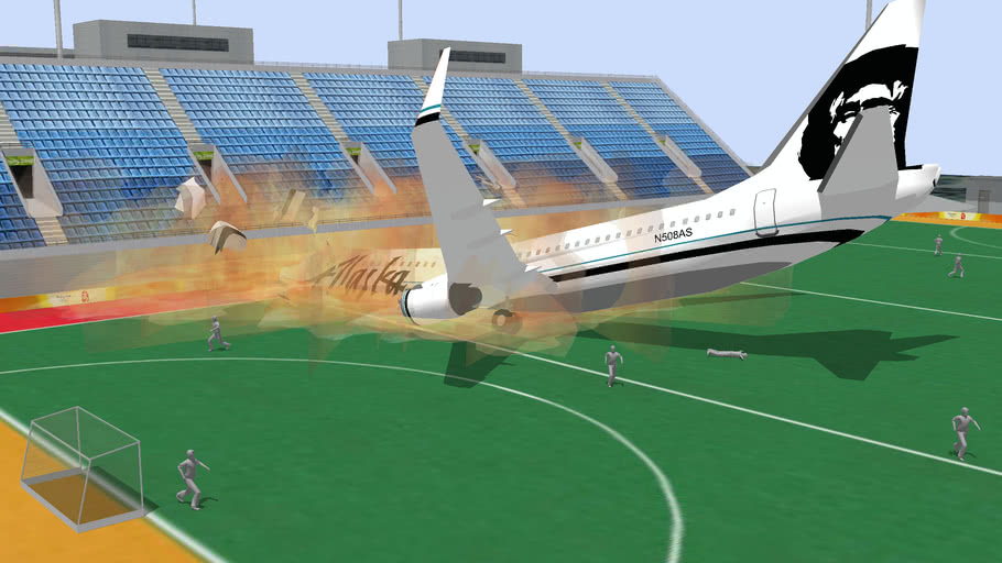 Plane crash into Stadium