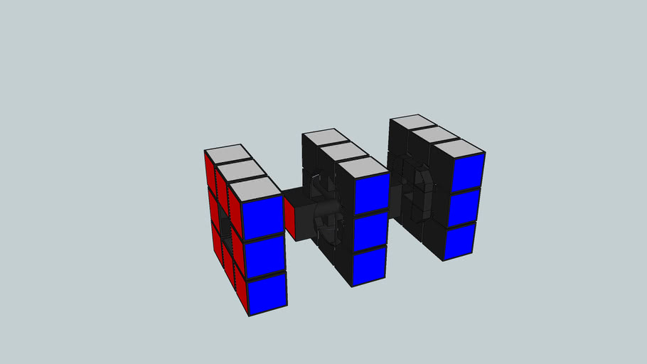 Rubix Cube Mechanical Model
