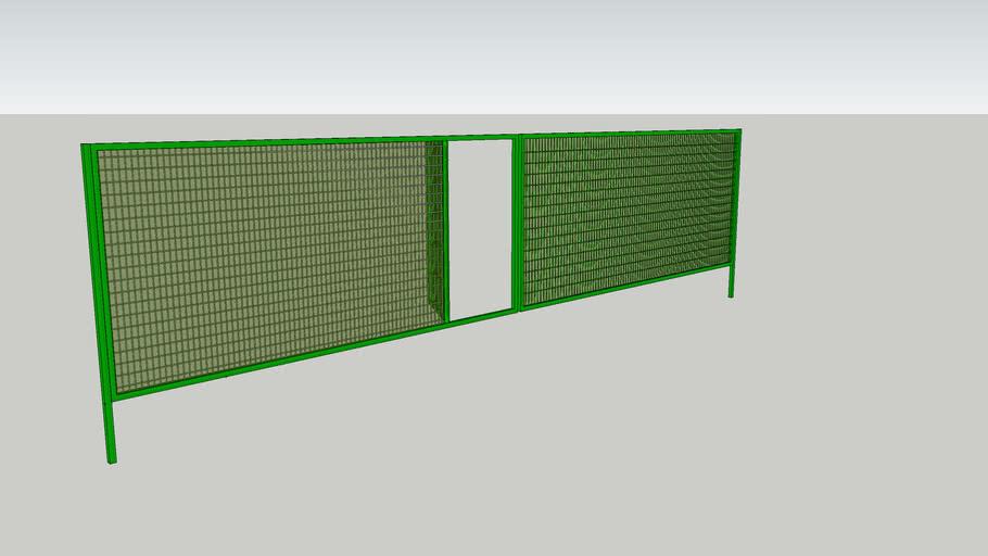 Double Winged Door with Green Net