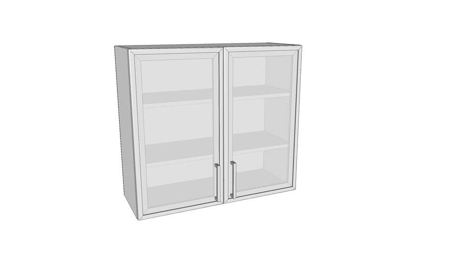 Dvokrilni stakleni gornji element - 80 cm