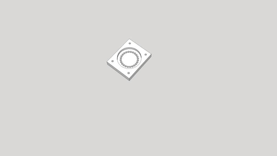 Adjustable Base for Sub-Micro Servo Mount