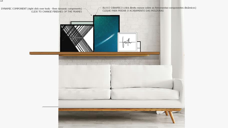 Composição com 3 quadros Cidade, Mar e Fé, Coleção assinada: Paola Cury