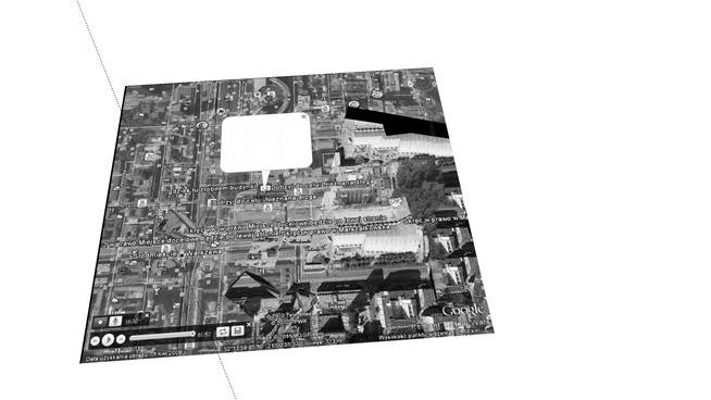 """Google earth-""""gdzieś tu zrobiłem budynki""""-Warszawa"""