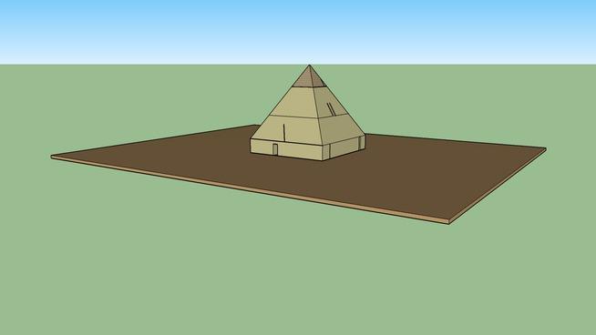 Pirâmide com tumba