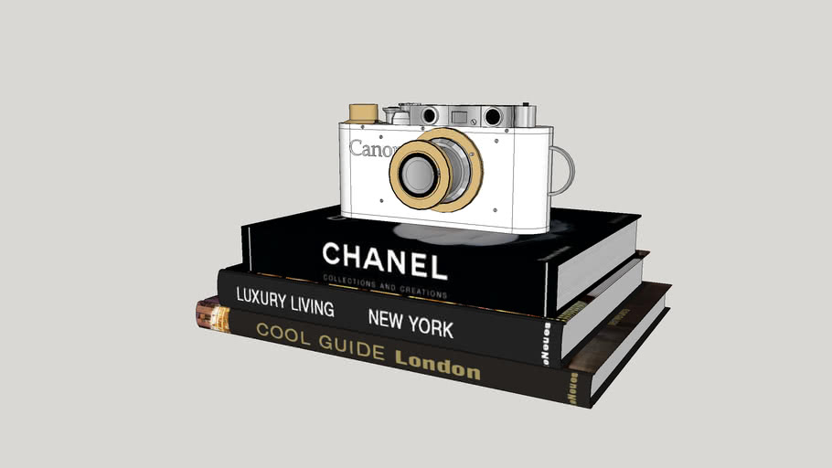 Books and camera