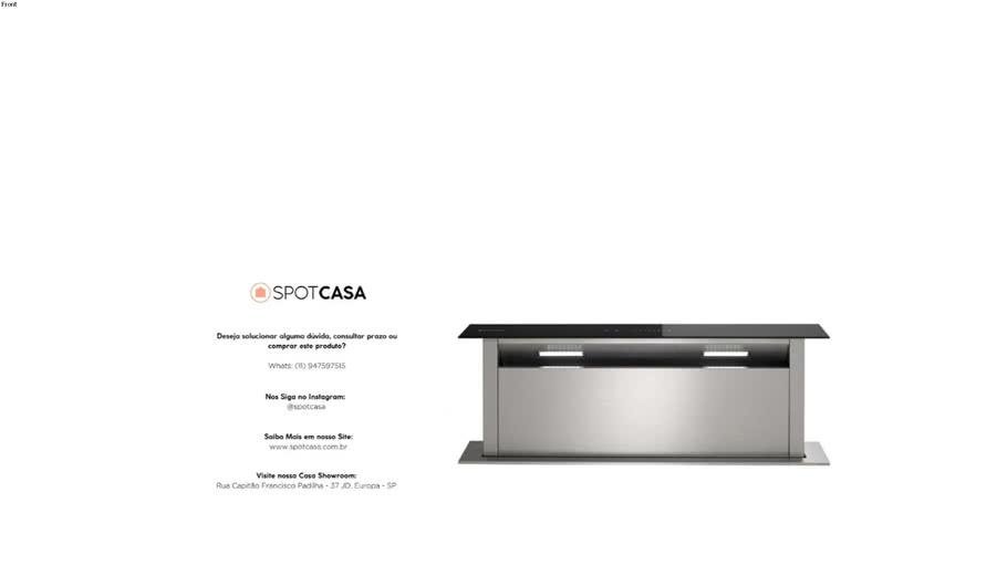 Coifa Sollevare Downdraft Elettromec 90cm 220V