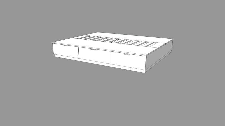 NORDLI bed queen