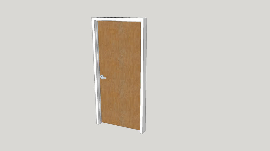Commercial Wood Door - 36 x 82 - Right Swing