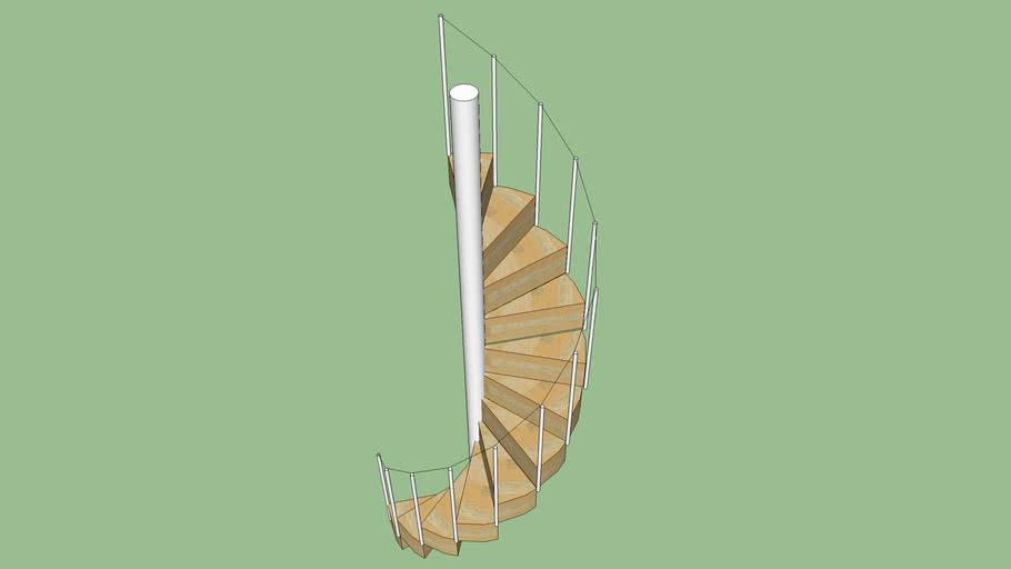 escalier en colimaçon diamètre 124cm