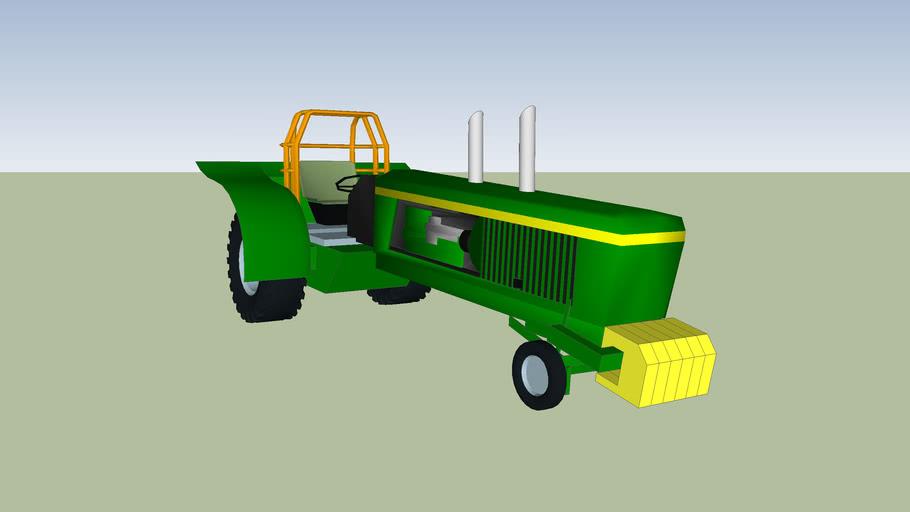johndeere pulling tractor