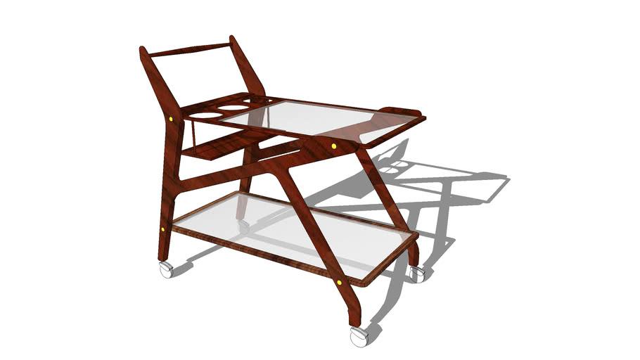 Mid Century Wooden Bar Cart