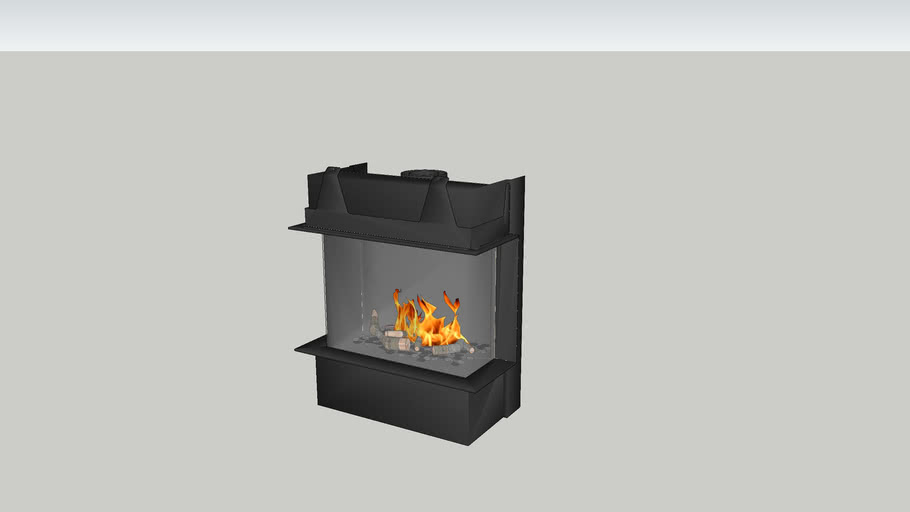 Barbas Gas Fire Panorama 70-55 with 10 cm frame