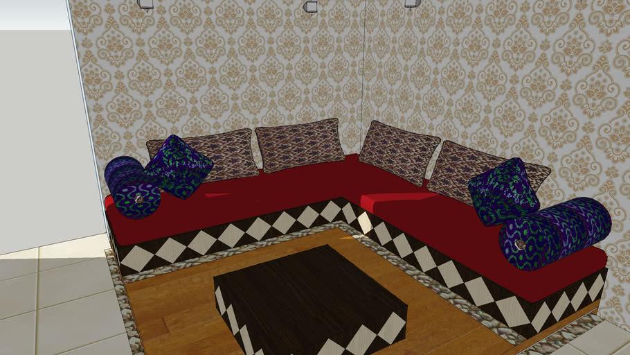 Bhartiya Baithak Low Seating Sofa, Low Seating Furniture