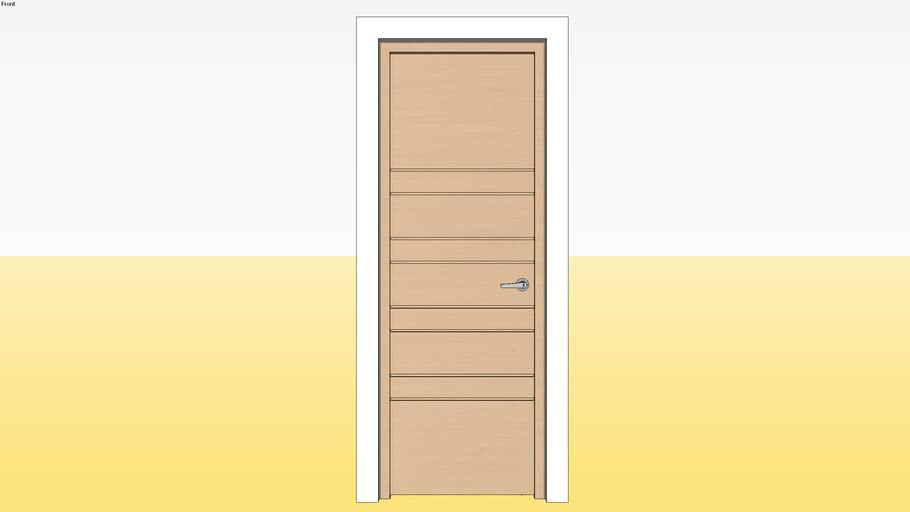 Flush Door D7 700 x 2100 Jamb 4