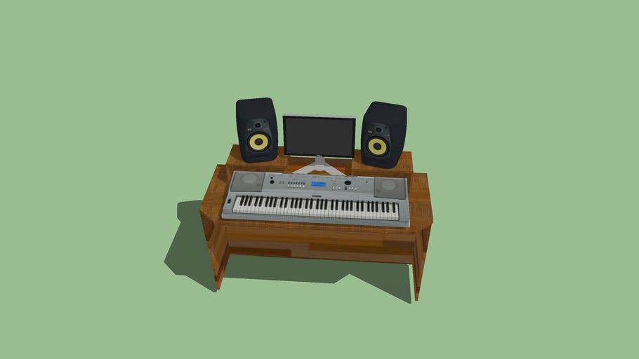 Home Studio With Keyboard And KRK