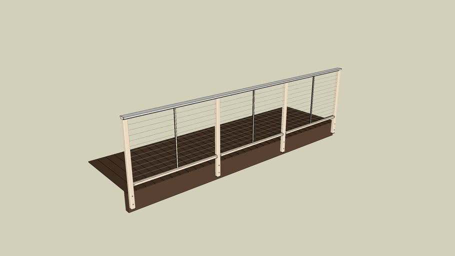 09 DesignRail® Aluminum Railing System with Horizontal Cable Infill - Fascia Mount