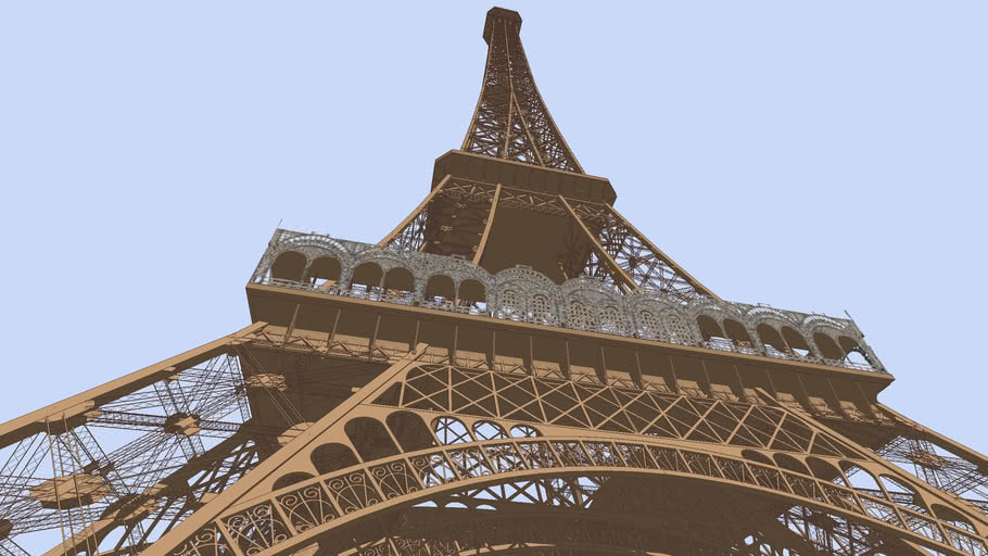 Eiffel Tower Construction Sequence