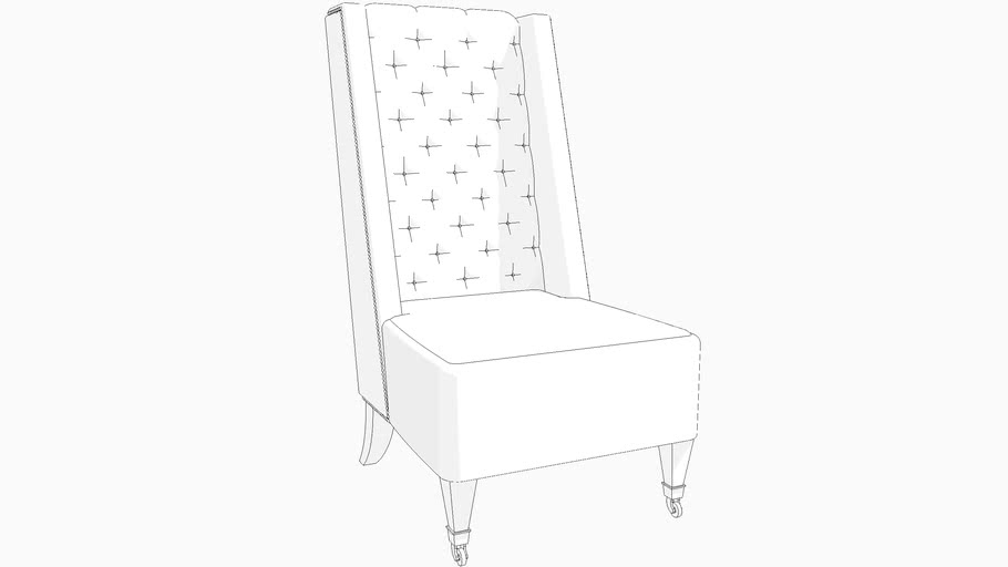 TUFTED WINGCHAIR