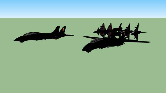 6X Mirage VS 2X F-14D Tomcat