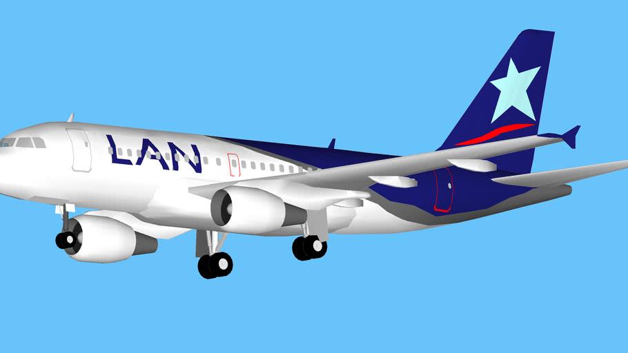 LAN Airlines Airbus A319 Aterrizando en Antofagasta, Chile.