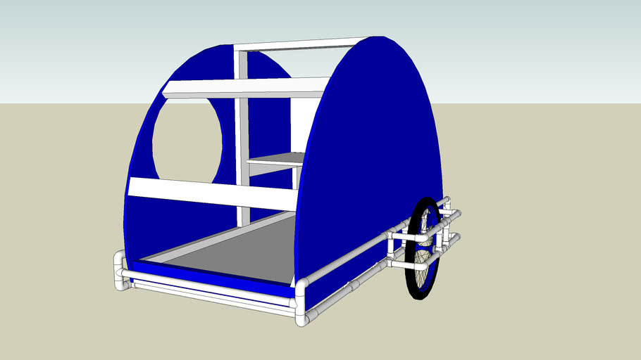 PVC teardrop trailer for my 300cc scooter