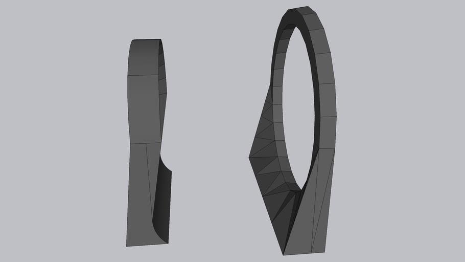 Saab 900 door card cup holder