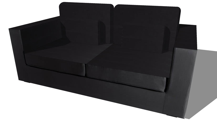 Canapé MILANO noir, Maisons du monde. Réf: 132.877 Prix:499€
