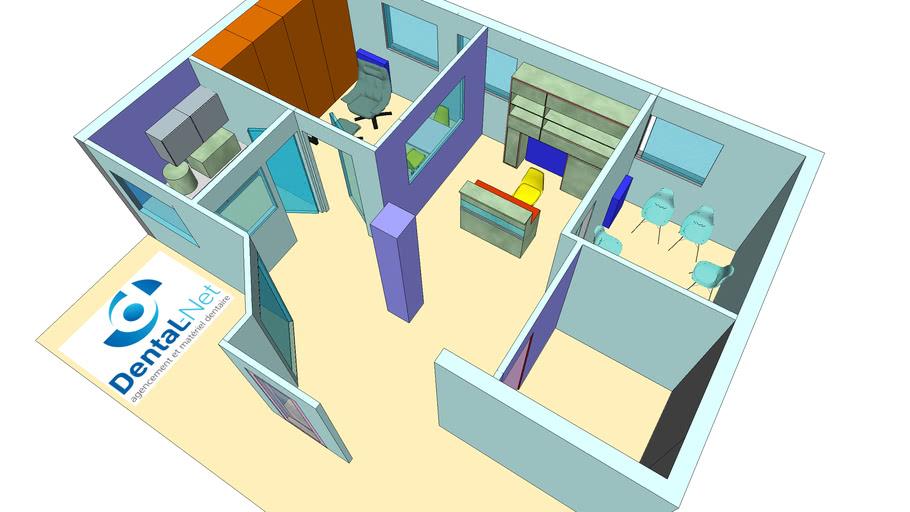 Agencement cabinet dentaire (partie public et labo) version 4B