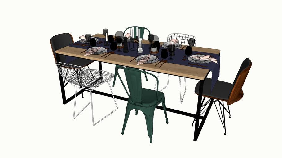 Stół z nakryciem