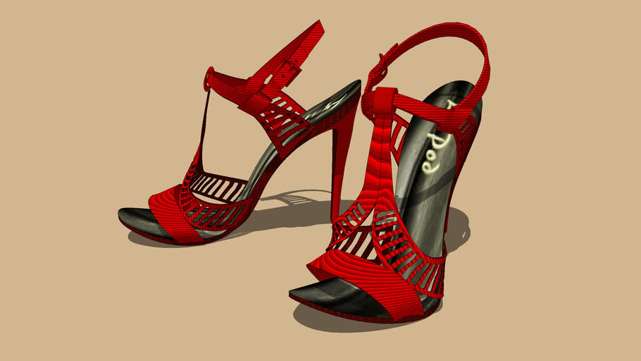 """""""GUCCI""""... Scarlet... Sandals.. No. 3 of 5..."""