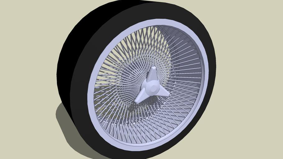"WHEEL ""SPIKE-128 (RETRO-style)"" by T.O.M. update"