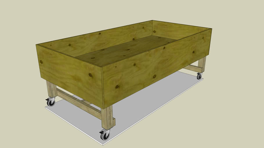 Portable Elevated Planting Table