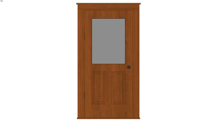 Framed Glass Door with Header - Detailed