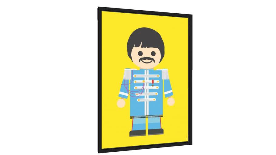 Quadro Paul McCartney - Galeria9, por Rafa Gomes