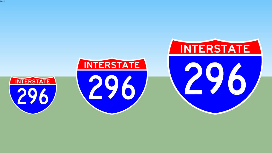 Interstate 296 Sign