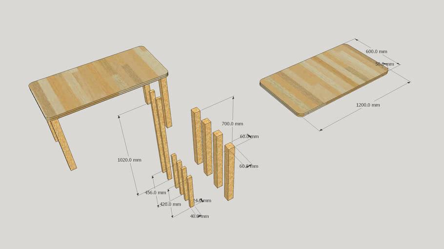 목재 책상