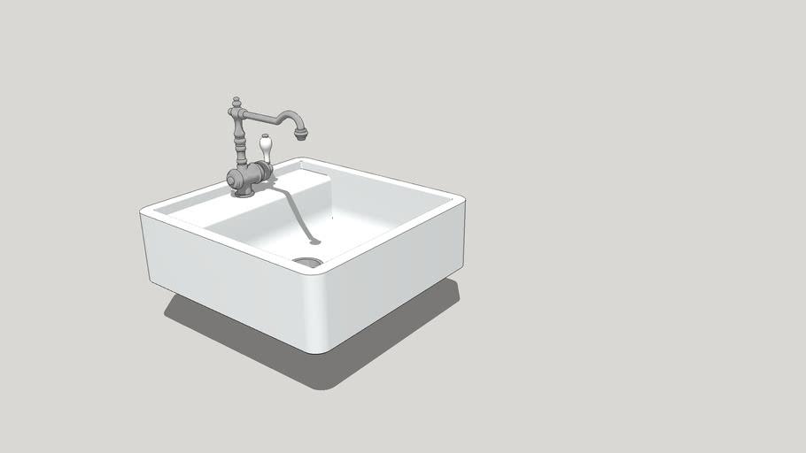 Ceramic sink BLANCO PANOR 60, мойка BLANCO PANOR 60, кран