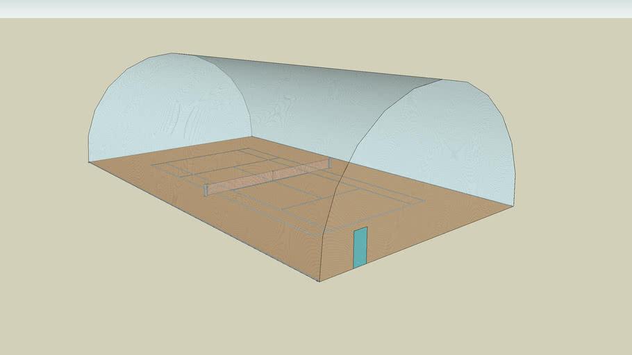 terrain de tennis sous hangar