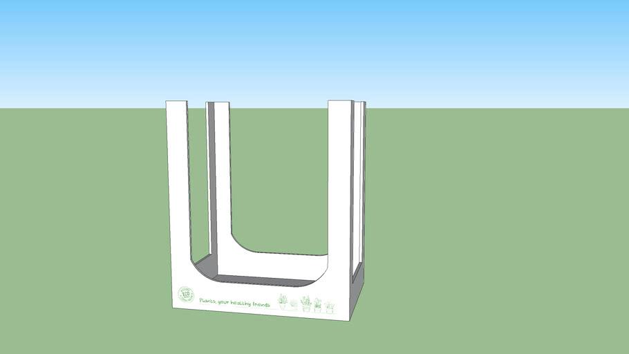 White Display Box 70CM Height
