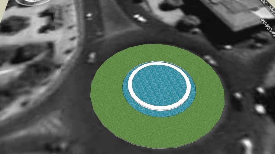 Fuente en rotonda de Don Benito 3D