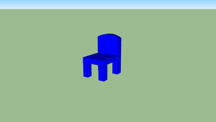 Simple Blue Chair